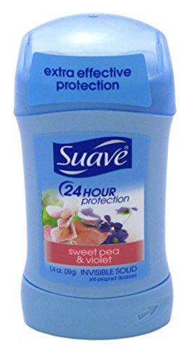 Suave Naturals Invisible Solid Deodorant for Women, Sweat Pea & Violet - 1.4 oz - 2 pk