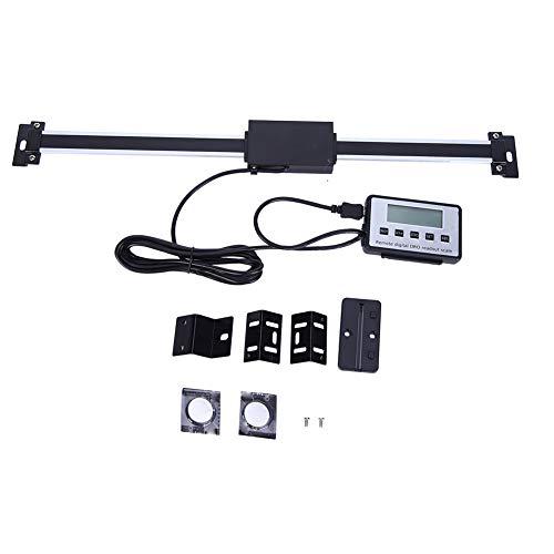 Akozon Escala lineal digital precisa 0-300 mm, Escala de lectura, LCD Sensor de desplazamiento para máquinas de fresadoras y tornos