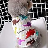 JPDD ヨークシャーテリア犬リトル子犬小動物の品種ストライプサマーウェディングプリンセス猫ドレスのためのかわいいペット服 (Color : Red Vest, Size : M)