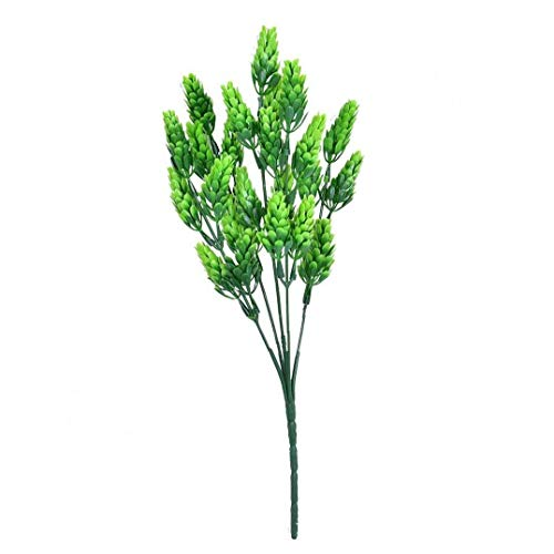 5pcs Artificial Plants Fake Plastic Greenery Shrub Bushes UV Resistant Plants Plastic Pine and Cypress for Indoor Outdoor Home Garden Decoration