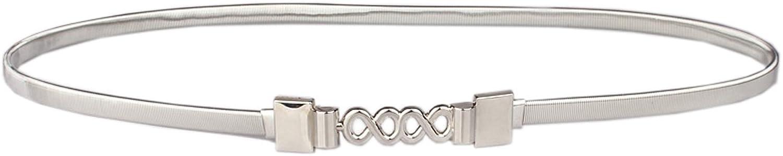 Amiveil Women's Metal Pearl Chain Belt Crystal gold Silver Rhinestone Belts