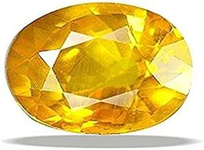 Getgemstones Yellow Sapphire Gemstone Certified Natural Square Shape Real Pukhraj 3.3 Carat