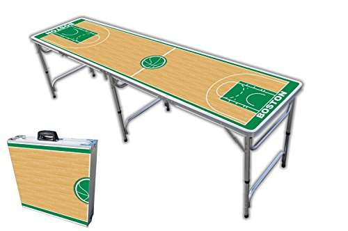 Purchase 8-Foot Professional Beer Pong Table - Boston Basketball Court Graphic