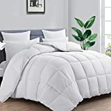 Dreambetter All Season King Size Down Alternative Comforter,Soft Quilted Cooling Comforter Duvet Insert with Corner Tabs,Machine Washable,Winter and Summer Reversible,White,90×102 inches