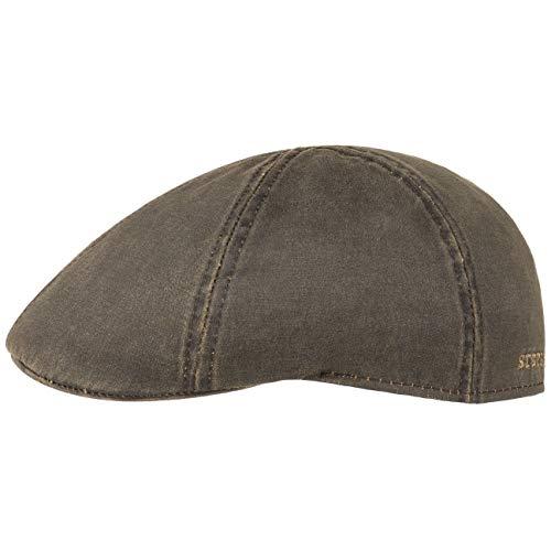 Stetson Flatcap Level Herren - Schirmmütze mit Baumwolle - Herrenmütze mit UV-Schutz 40+ - Mütze im Vintage-Look - Schiebermütze Sommer/Winter - Flat Cap braun XL (60-61 cm)