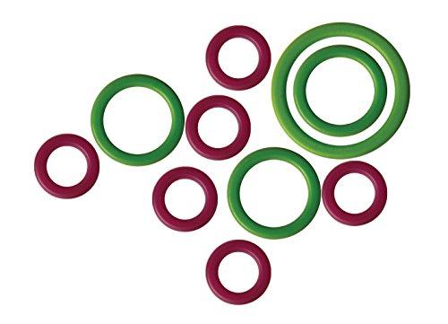 KnitPro Knit Pro Maschenmarker Packung mit 50 Stück Maschenmarkierer, Kunststoff, grün/lila, 11x5x1 cm, Einheiten