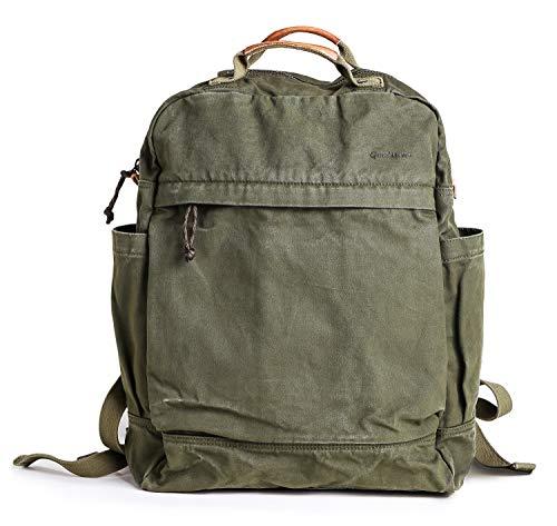 Gootium Canvas Backpack for Women Vintage Style Zipper Bag Men