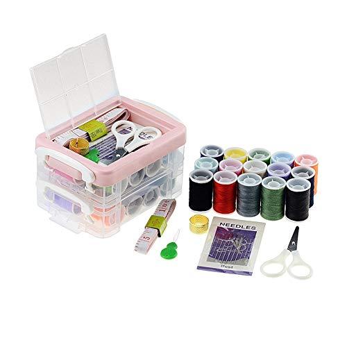 HSJWOSA Organizado Caso Agujas de Costura 1 Juego de Color Bordado Hilos de Costura Set DIY Hecho a Mano de poliéster líneas de Costura Que Hace Punto Kit de Taladro Ventajoso (Color : Multi-Colored)