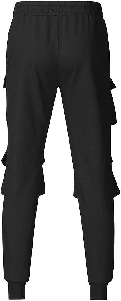 Meilily Herren Cargo Hose Chino Jogginghose Trainingshose Multi-Tasche Sporthose Sweatpants Sport Fitness Jogger Hosen M/änner Haremshose Baumwolle Jungen Slim Fit Pant Jogpants mit Kordel Sweat-Pants
