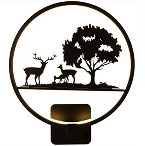 H&M Applique Murale LED Mur Lumière Moderne Simplicité Noir Et De Cuisson Peinture Fer Forgé Applique Applique Lampe de Chevet Avec Baffle Acrylique Avec Modèle Exquis Pour Chambre Salon Couloir