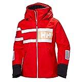 Helly Hansen Women's Salt Power Waterproof Sailing Jacket, 147 Cherry Tomato, X-Small