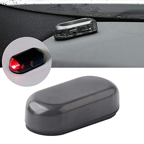 Solar Power Dummy Car Alarm LED Rosso Luce flash Simulation Door Decoration Warning Light Lampada Antifurto Lampeggiante di Sicurezza