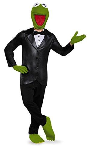 Disguise Men_s Kermit Deluxe T-Shirtn Costume Black/Green Medium