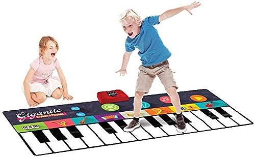 Klaviermatte für Kinder 71 Zoll 24 Tasten Bodentastatur Klaviertanz Aktivit matte Musiktastatur Spielmatte Mit Schallplatte Batteriebetrieben Faltbare Wiedergabe Demo Spielen Einstellbare Vol Schrit