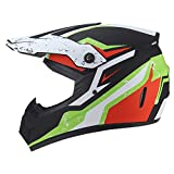Helmet Motocrós El Casco Adulto, con Guantes Gafas Protectoras Máscara Off Road MTB Downhill Casco para Bicicleta de Montaña Niño Niña Karting Casco Deportivo -LWAJ