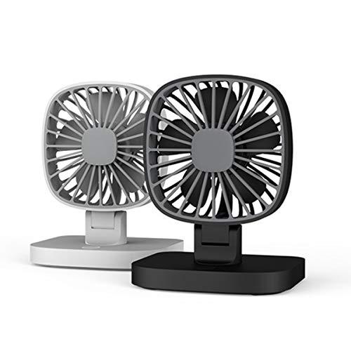 C-FUNN Portable USB Dual Head Mini Ventilador De Aire 360 ° Rotación para El Coche De La Oficina De Enfriamiento del Hogar - Negro