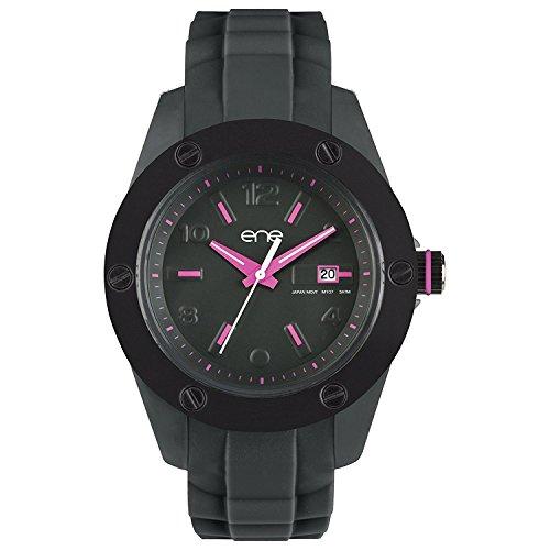 eNe Herren Analog Quarz Uhr mit Gummi Armband 720000127