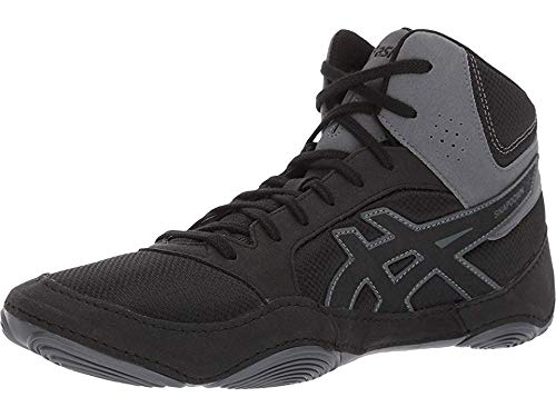 ASICS Men's Snapdown 2 Wrestling Shoe, Black/Black/Carbon, 9.5 M US