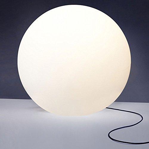 Licht-Trend Bolla XXL Garten Aussenkugel Ø 80 cm/Weiss Gartenkugel Kugelleuchte
