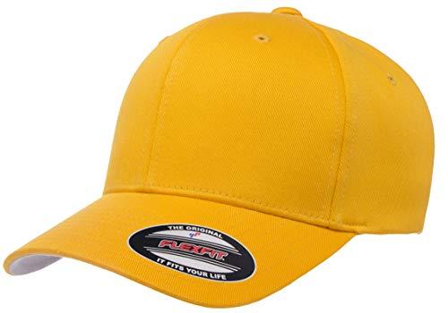 Flexfit Herren Men's Athletic Baseball Fitted Cap Kappe, Gold, L/XL