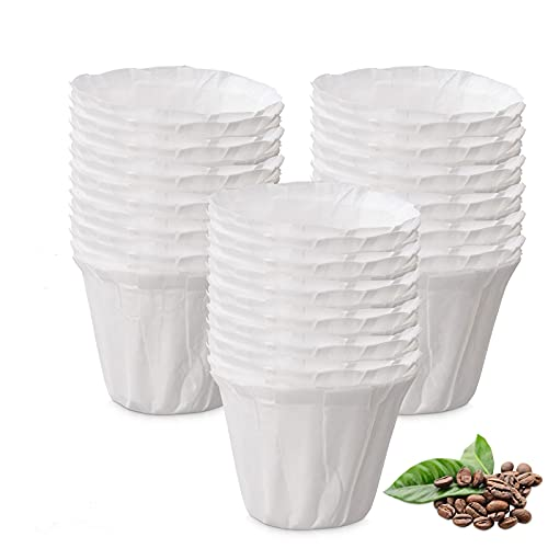 Disposable Paper Coffee Filters, Keurig K Cup Paper Filters for Keurig Single Brewer Reusable Cups, K-cup Coffee Pods, Fits All Brands Reusable K Cups (150)
