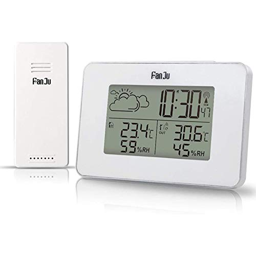 Accurite Weather Forecast Clock Station Digital Monitoring Alarm Clock Thermometer With Outdoor Sensor...