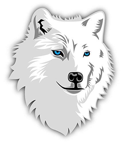Arctic Wolf Head Mascot Auto-Dekor-Vinylaufkleber 10 X 12 cm