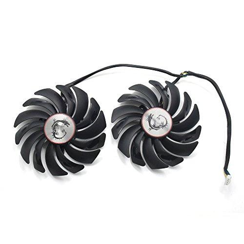 inRobert Ventilador de refrigeración para tarjetas gráficas de doble rodamiento de bolas de 95 mm para MSI GTX 1060 1070 1080 TI RX 470 480 570 580 Gaming Video Card Cooler