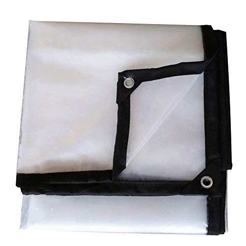 Jonist tarpaulin waterproof heavy duty Transparency 85% Thick Outdoor Rain Plastic Sheet Polyethylene Material, 16 Sizes (Color : Transparent, Size : 4x10m)