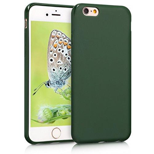 kwmobile Custodia Compatibile con Apple iPhone 6 / 6S - Cover in Silicone TPU - Back Case per Smartphone - Protezione Gommata Verde Scuro Matt
