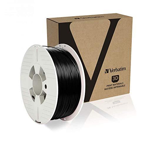 Verbatim 55052 PET-G Filament 1.75, 3D-Druckmaterialien, Schwarz 1kg Spule