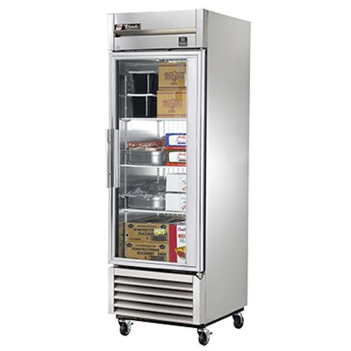 True TS-23FG-LD Single Section All Stainless Glass Door Reach-in Freezer