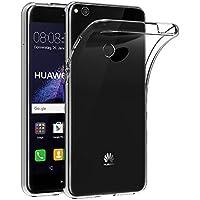 ELECTRÓNICA REY Funda Carcasa Gel Transparente para Huawei P8 Lite 2017 / P9 Lite 2017, Ultra Fina 0,33mm, Silicona TPU de Alta Resistencia y Flexibilidad