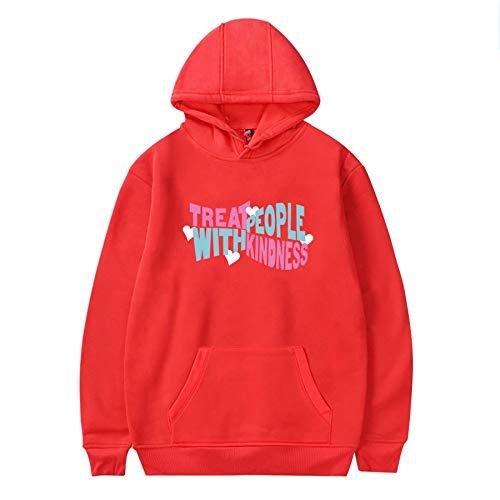 Sweat à capuche tendance unisexe style Harry décontracté hip-hop chaud streetwear ample, sweat à capuche de sport pour fille et garçon - Rouge - 3XL