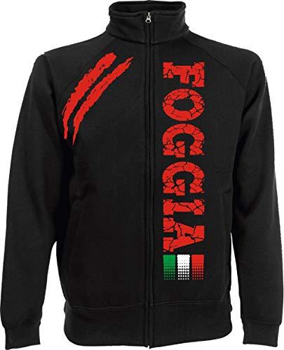 Generico Giacchino FOGGIA Tifosi Ultras Calcio Sport dalla S alla XXL e 4 Colori Disponibili(XL, Nero)