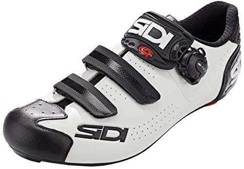 SIDI Scarpe Alba 2, Scape Ciclismo Uomo, Bianco Nero, 44