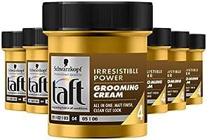 Schwarzkopf Taft Irresistible Power Grooming Cream Wax 130ml , 6 stuks