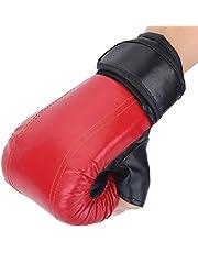 Nologo 2pcs / Set Deportes Adultos Hombre/Mujer De Entrenamiento De Boxeo Guantes De Lucha contra La Esponja Muay Thai Kickboxing Sparring De Perforación PU Guantes Protegen Zzib