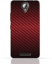 Lenovo A5000 TPU Silicone Case With Red Fiber Pattern Design