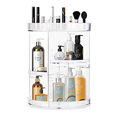 Amazon - Save 10%: 360 Rotating Makeup Organizers and Storage, COOLBEAR Spinning Cos…