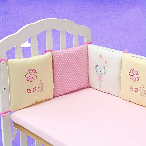 Patins de tour de lit pour chambre d'enfant lavables en machine - Tapis de lit rembourré pour bébé garçon et fille - En coton tricoté - 30 x 30 cm