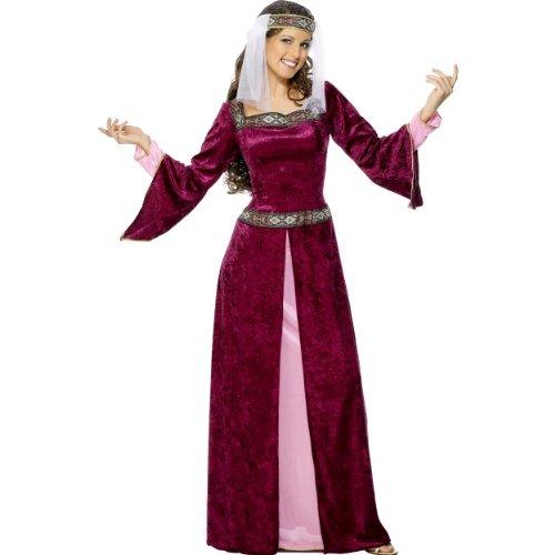 Karneval Damen Kostüm Lady Marian Mittelalter Burgfräulein Larp XL