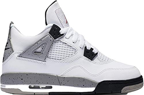 Nike Air Jordan 4 Retro OG BG Hi Top Trainers 836016 Sneakers Shoes (6.5Y, White Fire Red Black Tech Grey 192)