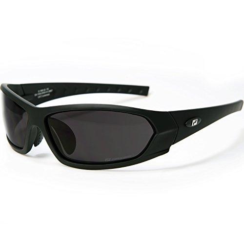 Daisan Herren Sonnenbrille Sportbrille Motorradbrille für Biker 100% UV Schutz bruchfeste Scheibe