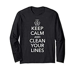 in budget affordable Calm down and clean your Kegerator Brewing Lines gift long sleeve T-shirt