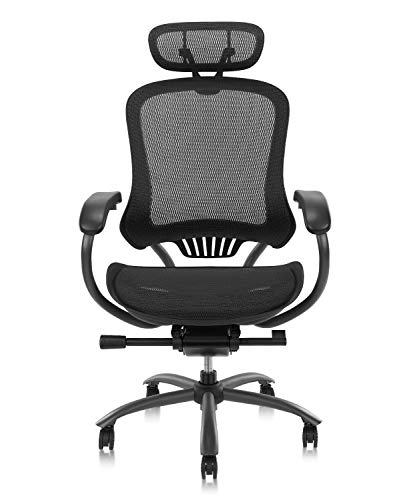 CLATINA Ergonomic High Mesh Swivel Executive Chair with Adjustable Height Head Arm Rest and Lumbar Support Back for Home Office