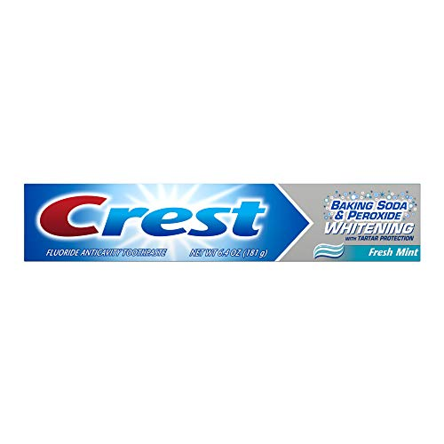 Crest Baking Soda & Peroxide Whitening with Tartar Protection, Fresh Mint Toothpaste - 6.4 Oz, Pack of 3