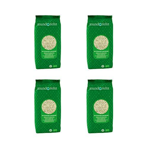 Mundo Feliz, Semi Di girasole Biologici, 500 g, Confezione Da 4
