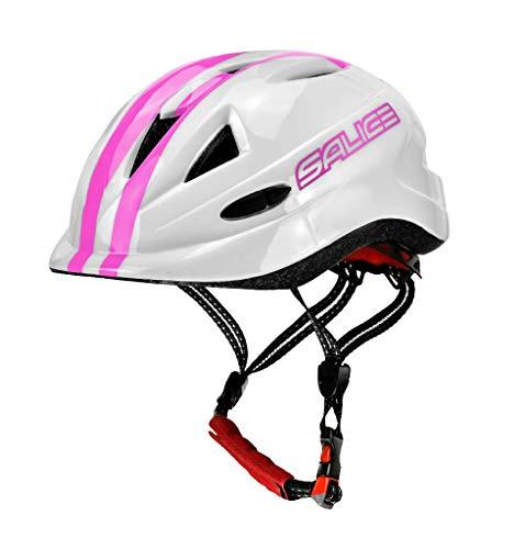 salice Casco para Bicicleta Junior TG.46–54Fucsia Unisex bebé