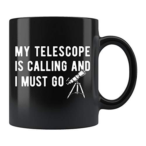 Astronomie-Geschenk, Astronomie-Tasse, Sonnensystem-Tasse, Teleskop-Kaffeetasse, Astronomie-Kaffeetasse, Astronomie-Geschenk, Weltraum-Tasse, Teleskop-Geschenk, Raum, Keramik-Tasse, 425 ml